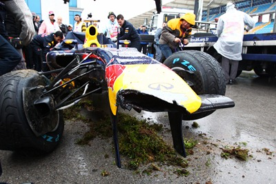 Accidente Vettel
