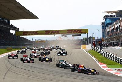 Salida GP Turquía