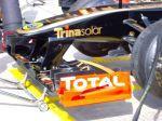 Alerón delantero del Lotus Renault