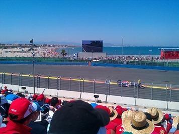Vettel, pantalla gigante y playa