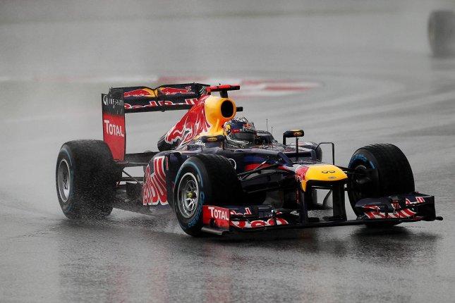 Sebastian Vettel bajo la lluvia, GP Malasia 2012