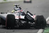 Choque de Senna en el muro de campeones