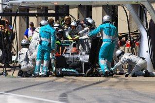 Problemas en el DRS de Schumacher