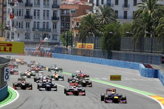 Salida del GP Europa 2012
