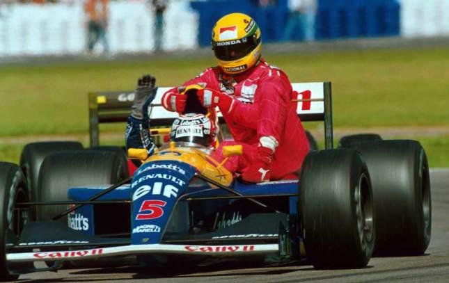 Senna y Mansell (GP Gran Bretaña, 1991)
