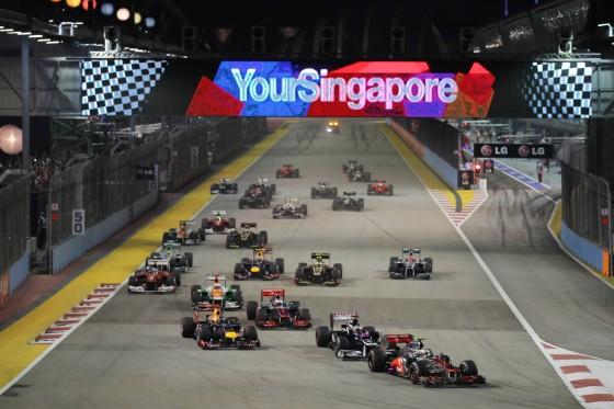 Salida GP Singapur 2012
