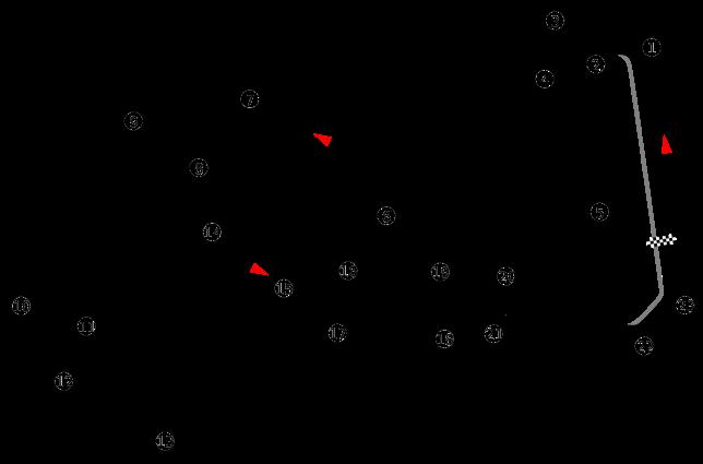 Diagrama del trazado de Marina Bay