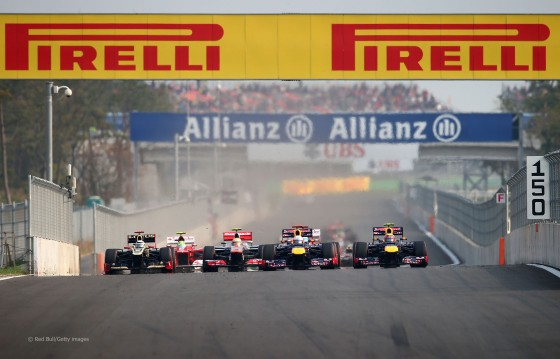 Salida del Gran Premio de Corea