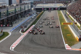 Salida del GP de Corea