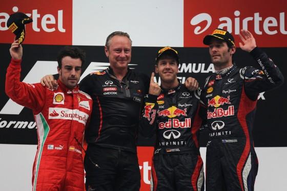 Podium GP India 2012