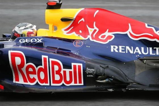 Daños en el escape del Red Bull (GP Brasil 2012)