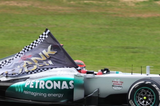 Agradecimiento de Schumacher (GP Brasil 2012)