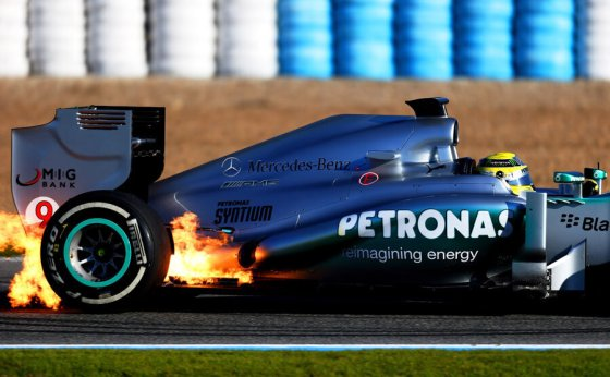 Nico Rosberg, Mercedes W04 (Tests Jerez 2013)