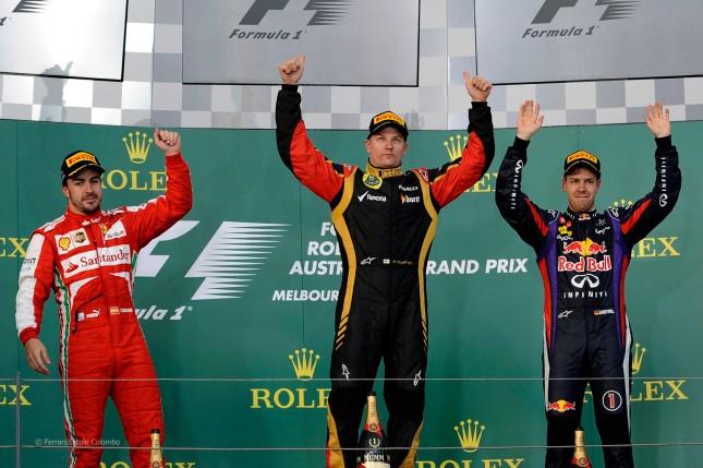 Podio del Gran Premio de Australia 2013