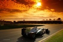 El Mercedes de Rosberg no tuvo suerte y se retiró por problemas mecánicos