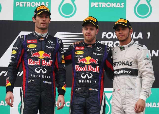 Podio del GP Malasia 2013