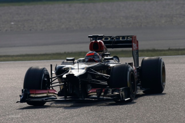 Morro roto del Lotus de Kimi Raikkonen (GP China 2013)