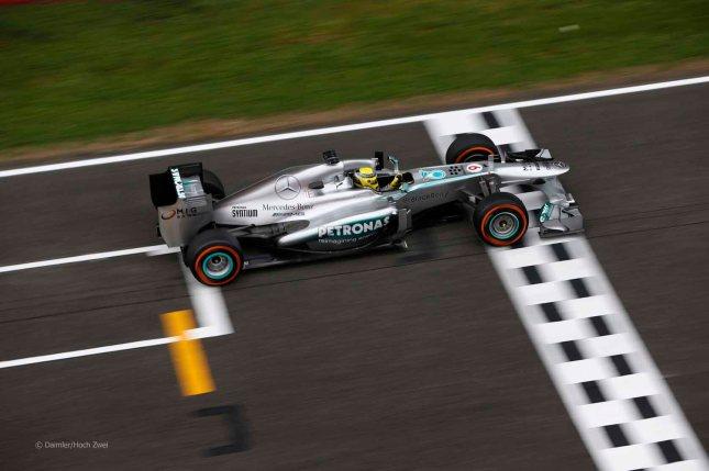 Rosberg cruza la meta tras una nueva decepcionante carrera (GP España, 2013)