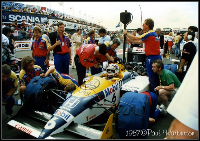 Ajustes Williams FW11B de Piquet (GP Gran Bretaña, 1987)