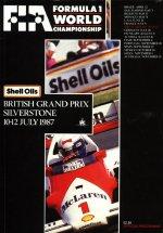 Poster GP Gran Bretaña 1987
