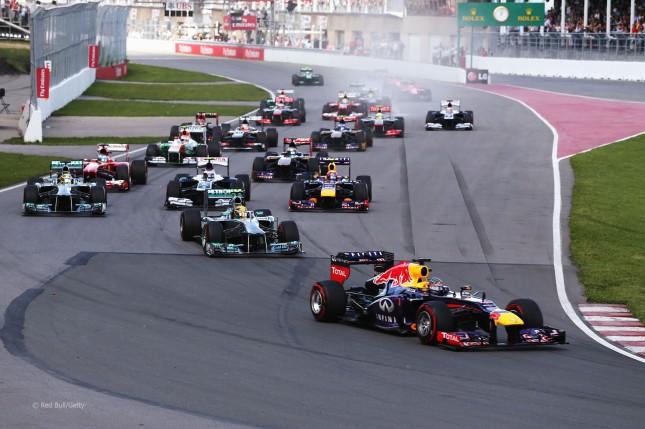 Salida Gran Premio Canadá 2013