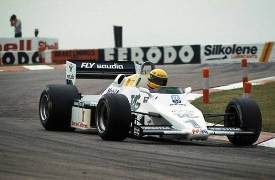 Primer test de Ayrton Senna, Williams FW08C (Donington, 1983)
