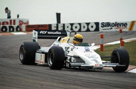Primer test de Ayrton Senna, Williams FW08C (Donington, 1983)