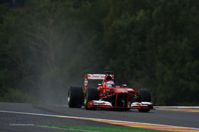Fernando Alonso, Ferrari F138 (Sesión de clasificación, GP Bégica 2013, Spa-Francorchamps)