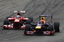Alonso adelantando a Webber (GP Italia 2013)