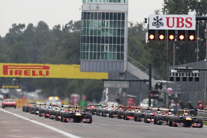 Parrilla de salida (GP Italia, 2013)