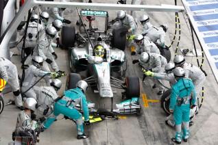 Pit Stop Nico Rosberg, Mercedes W04 (GP Italia, 2013)