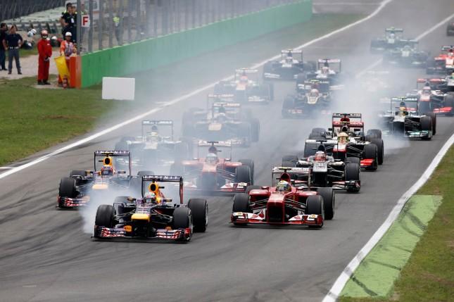 Salida del Gran Premio de Italia 2013 (Monza)