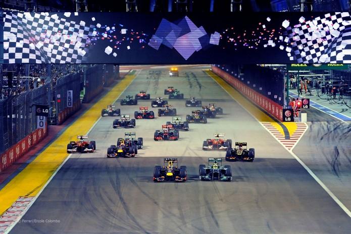 Salida Gran Premio de Singapur 2013