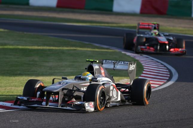 Esteban Gutierrez, Sauber C32 (GP Japón 2013)