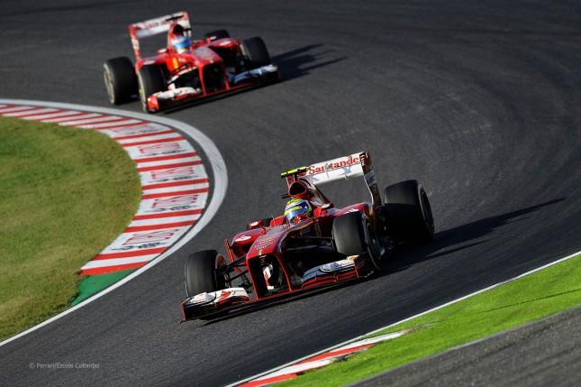 Massa y Alonso (GP Japón 2013)
