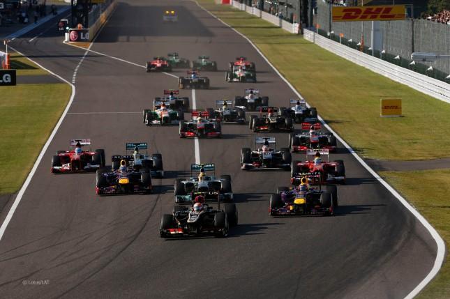 Salida Gran Premio Japón 2013