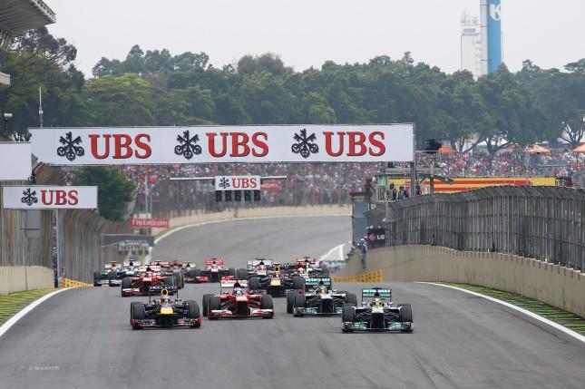 Salida Gran Premio de Brasil 2013 (Interlagos)