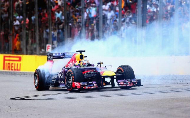 Trompos marca de la casa Vettel (GP Brasil 2013)